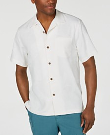 Tommy Bahama Men's Meet Me At The 19th Hole Embroidered Silk Camp Shirt