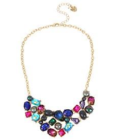 Betsey Johnson Mixed Stone & Bead Bib Necklace
