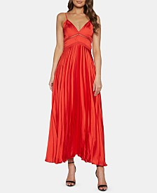 Bardot Pleated-Skirt A-Line Dress