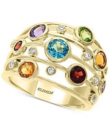 EFFY® Multi-Gemstone (2-5/8 ct. t.w.) & Diamond (1/10 ct. t.w.) Statement Ring in 14k Gold