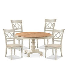 Cottage Dining Furniture, 5-Pc. Set (Table & 4 Side Chairs)