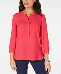 b484943e1 JM Collection Pleated-Back Blouse, Created for Macy's