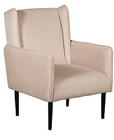 Elle Décor Baptiste Wingback Accent Chair, Quick Ship