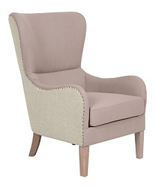 Elle Décor 2-Tone Wingback Chair, Quick Ship