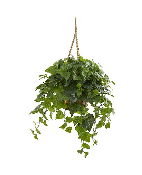 """Nearly Natural 38"""" London Ivy Artificial Plant in Hanging Basket (Real Touch)"""