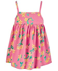 First Impressions Baby Girls Hibiscus-Print Sundress, Created for Macy's