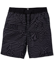 Big Boys Classic-Fit Stretch Stripe Logo Shorts