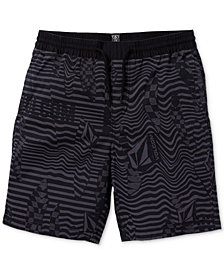 Volcom Big Boys Classic-Fit Stretch Stripe Logo Shorts