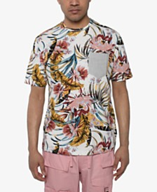 Sean John Men's Floral-Print Pocket T-Shirt
