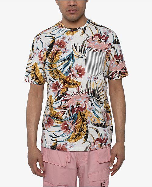 Sean John Men's Floral-Print Pocket T-Shirt