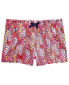 First Impressions Baby Girls Animal-Print Cotton Shorts, Created for Macy's