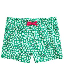 Baby Girls Daisy-Print Cotton Shorts, Created for Macy's