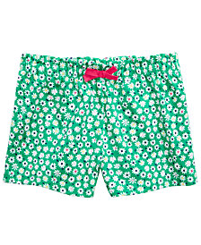 First Impressions Baby Girls Daisy-Print Cotton Shorts, Created for Macy's