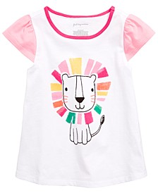 Toddler Girls Lion Graphic Flutter Top, Created for Macy's