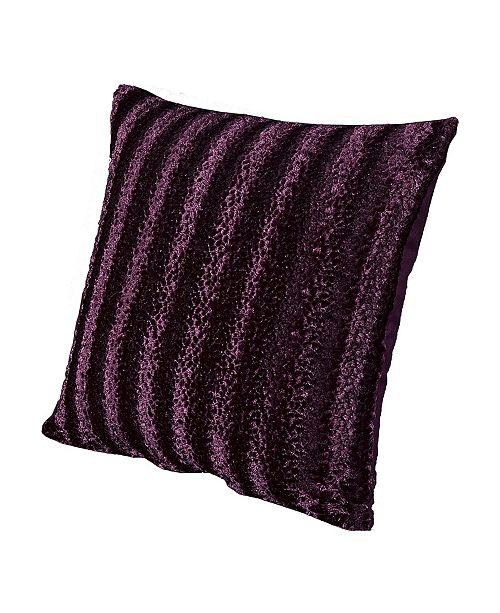 "Siscovers Siscover Frou Frou Faux Fur Glam 26"" Designer Euro Throw Pillow"