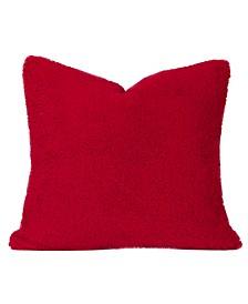 Playful Plush Scarlet Designer Throw Pillow