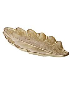 """15.25"""" Metallic Leaf Plate"""
