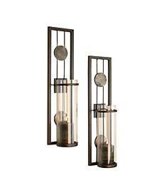 Set of Two Contemporary Metal Wall Sconces