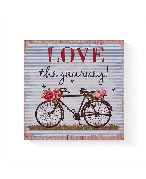 "Danya B ""Love the Journey"" Wooden Wall Art"
