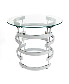 Signature Chrome End Table with Tempered Clear Glass