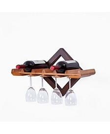 Hanging Wine Bottle and Stemware Rack