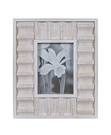 "Carved Wood Tabletop Display - 5"" x 7"" Picture Frame"