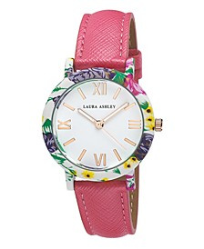 Women's Band Floral Bezel Watch