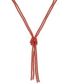 "Charter Club Imitation Pearl Knotted Lariat Necklace, 28"" + 2"" extender, Created for Macy's"