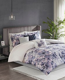 Madison Park Enza Queen 7 Piece Cotton Printed Comforter Set