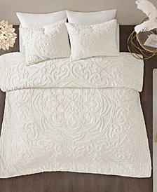 Madison Park Laetitia Full/Queen 3 Piece Cotton Chenille Medallion Comforter Set