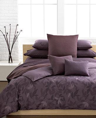 Calvin Klein Bedding Elm Comforter And Duvet Cover Sets