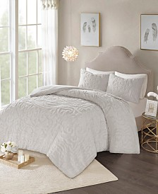 Madison Park Laetitia King 3 Piece Cotton Chenille Medallion Comforter Set