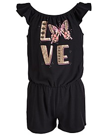 Epic Threads Toddler Girls Love-Print Romper, Created for Macy's
