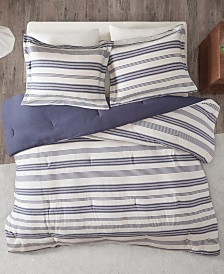 Urban Habitat Cole King/California King Stripe Print Ultra Soft Cotton Blend Jersey Knit 3 Piece Comforter Set