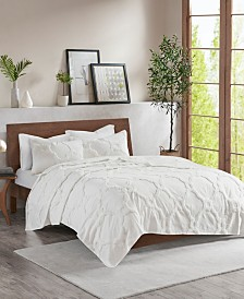 Madison Park Pacey King/California King 3 Piece Cotton Chenille Geometric Coverlet Set