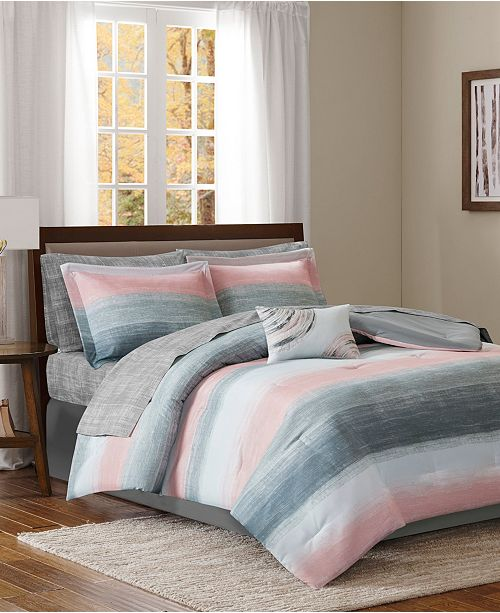 JLA Home Saben King 9 Piece Complete Comforter and Cotton Sheet Set