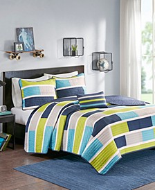Mi Zone Bradley Twin/Twin XL 3 Piece Quilt Set