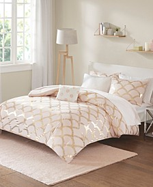 Lorna Queen 8 Piece Comforter and Sheet Set