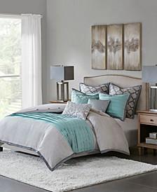 Hampton Hill Tranquility Queen 8 Piece Comforter Set