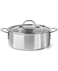 Tri-Ply Stainless Steel 5 Qt. Covered Dutch Oven