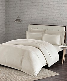 Urban Habitat Comfort Wash Full/Queen 3 Piece Cotton Duvet Cover Mini Set