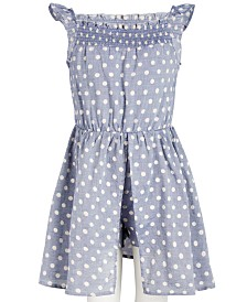 Epic Threads Little Girls Dot-Print Skort Romper, Created for Macy's