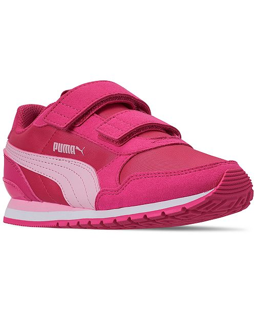 huge selection of 89924 1c69d ... Puma Little Girls  ST Runner Casual Sneakers from Finish Line ...