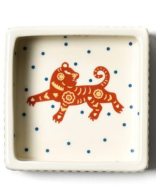 Coton Colors Chinese Zodiac Tiger Square Trinket Bowl
