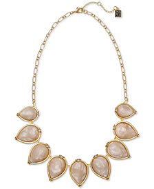 """Laundry by Shelli Segal Gold-Tone Swirl Bead Statement Necklace, 16"""" + 2"""" extender"""
