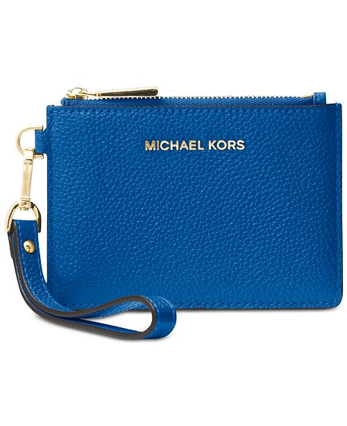 1369666759af Michael Kors Mercer Pebble Leather Coin Purse & Reviews - Handbags ...
