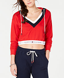 Tommy Hilfiger Retro Cropped Pajama Hoodie R27S021