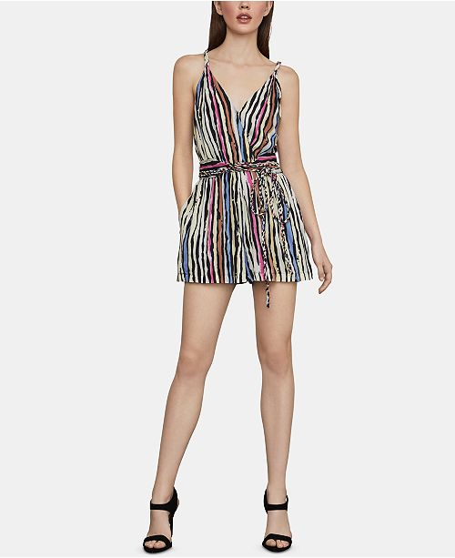 BCBGMAXAZRIA Striped Romper