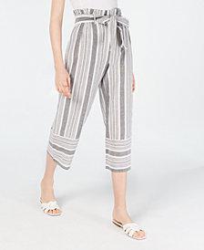 Planet Gold Juniors' Cotton Paperbag Gaucho Pants