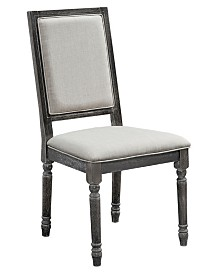 Muse Upholstered Back Chair - Set of 2